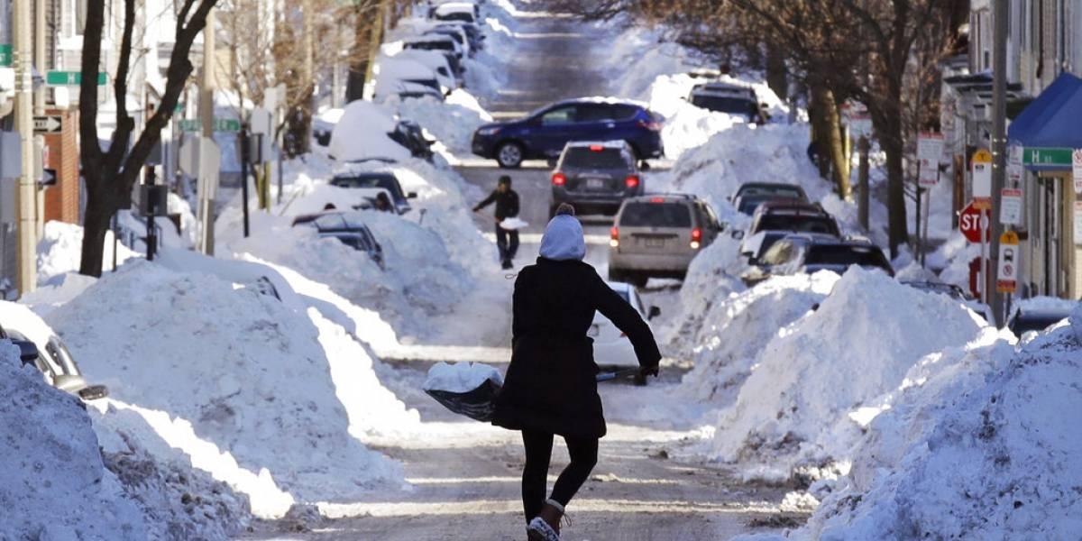La nieve se retira de EEUU para dar paso a un extremadamente gélido fin de semana