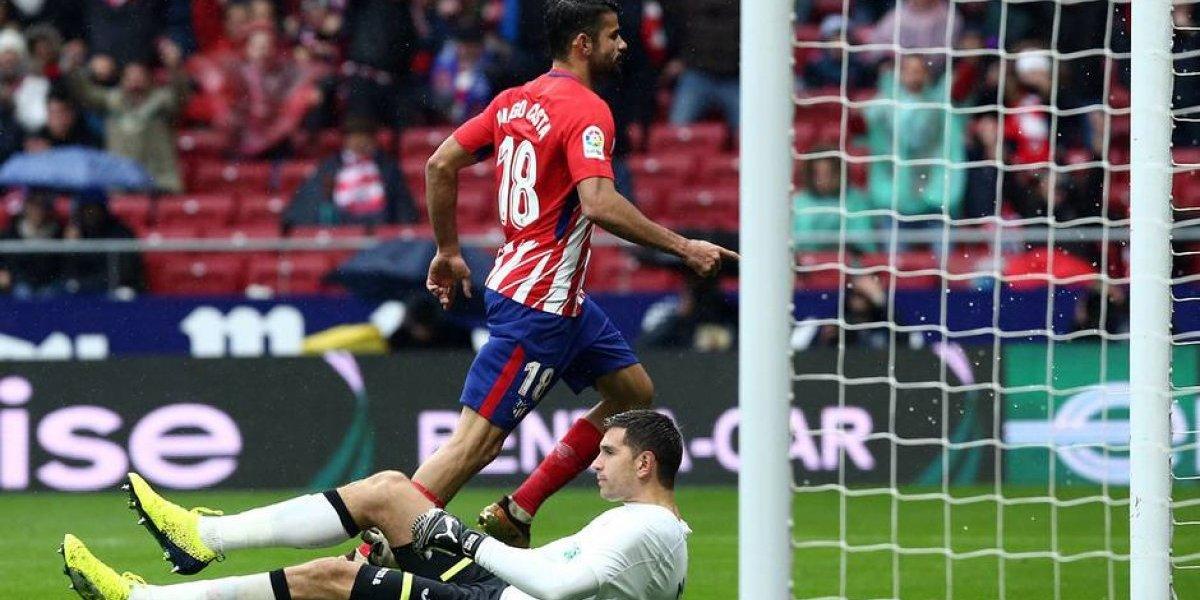 Con gol y expulsión de Costa, el Atlético de Madrid gana ante Getafe