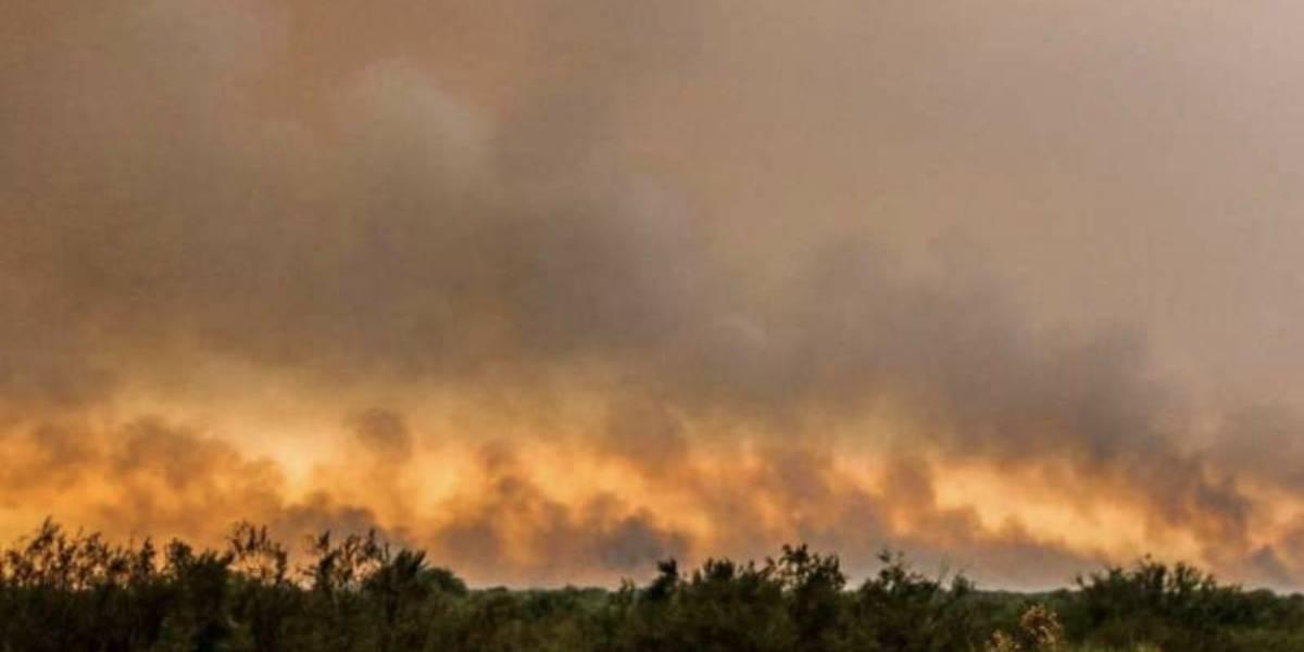 Incendio forestal consume más de 100 mil hectáreas en Argentina