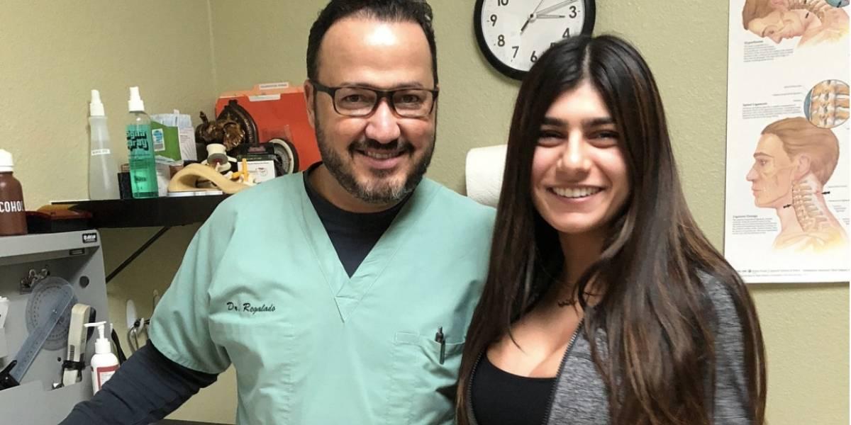 La recompensa que Mia Khalifa le dio a un médico que la ayudó con una lesión