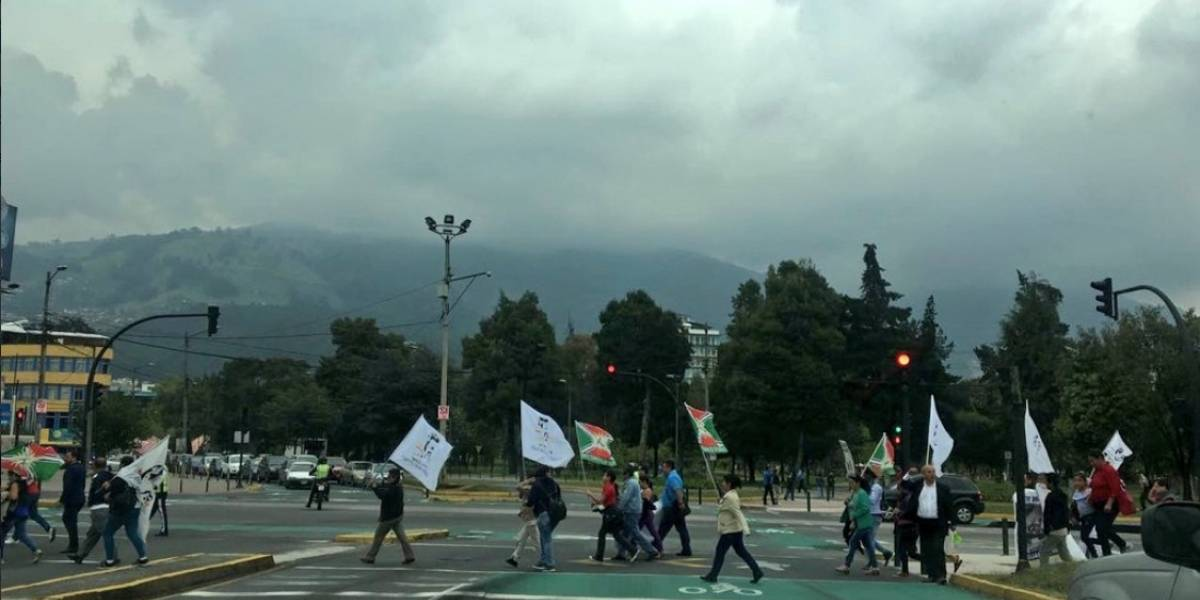 Se reporta marcha en dirección a la Asamblea Nacional