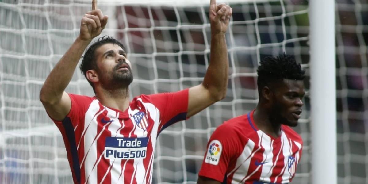 Con gol y expulsión de Diego Costa, el Atletimantiene el segundo puestoenLaLiga