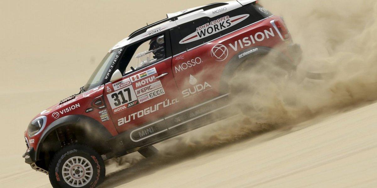 Boris Garafulic no se dio por vencido y sigue en competencia en el Dakar