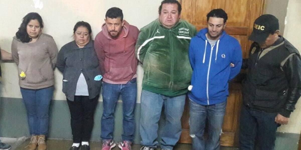 Capturan a cinco personas en Chimaltenango señaladas de integrar una pandilla