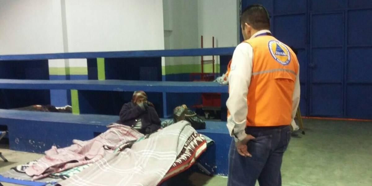 72 personas fueron atendidas durante las últimas horas en albergues