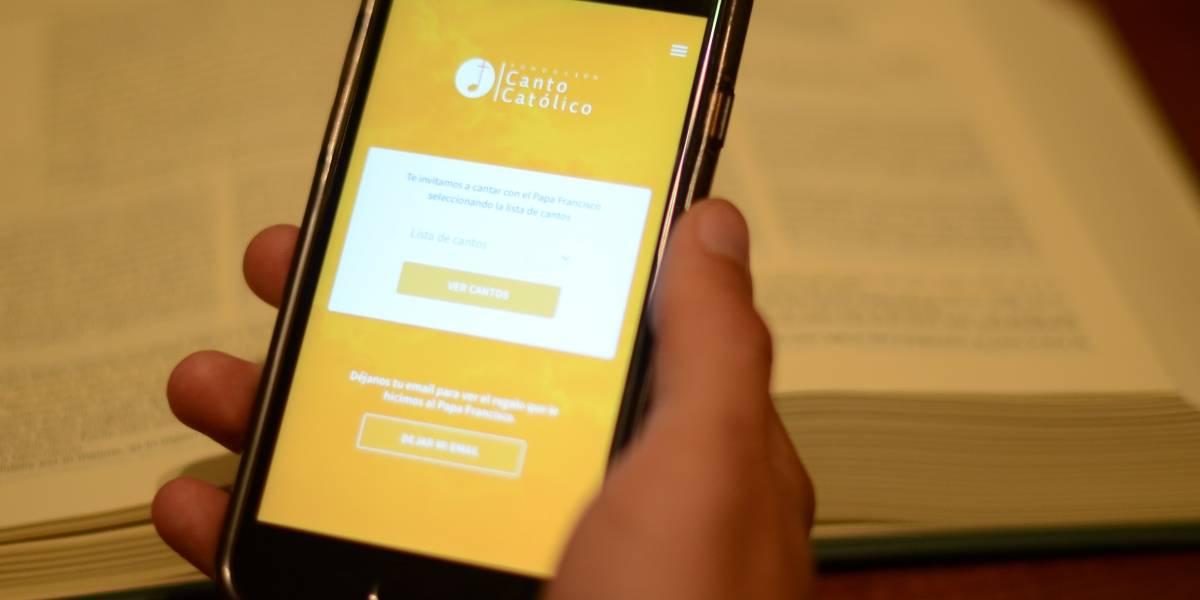 Visita del Papa: Chilenos crean App para seguir cantos y misas de Francisco en Chile
