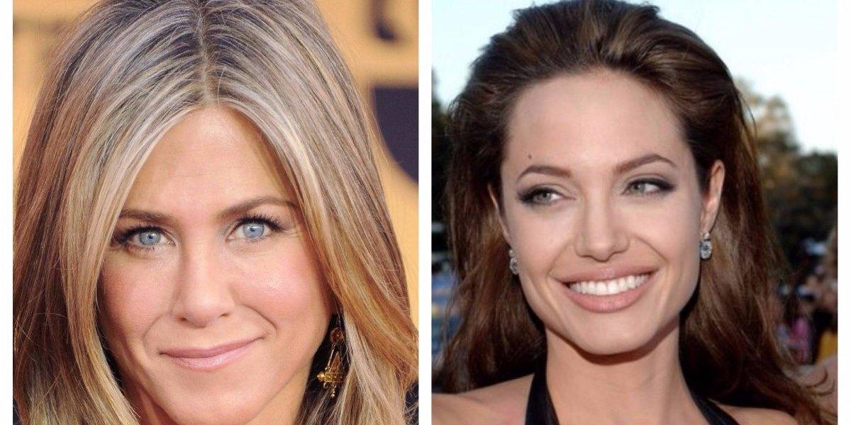 Foto. Lo que hizo Angelina Jolie cuando vio a Jennifer Aniston en los Golden Globes