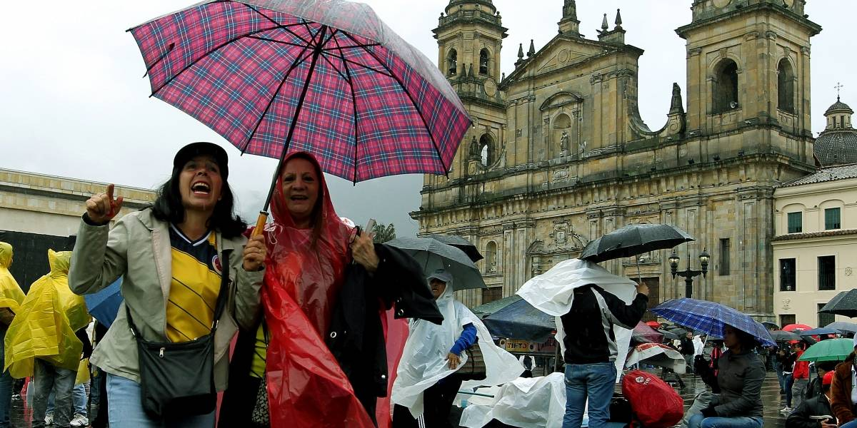 ¡Atención! reportan fuertes lluvias en el norte de Bogotá