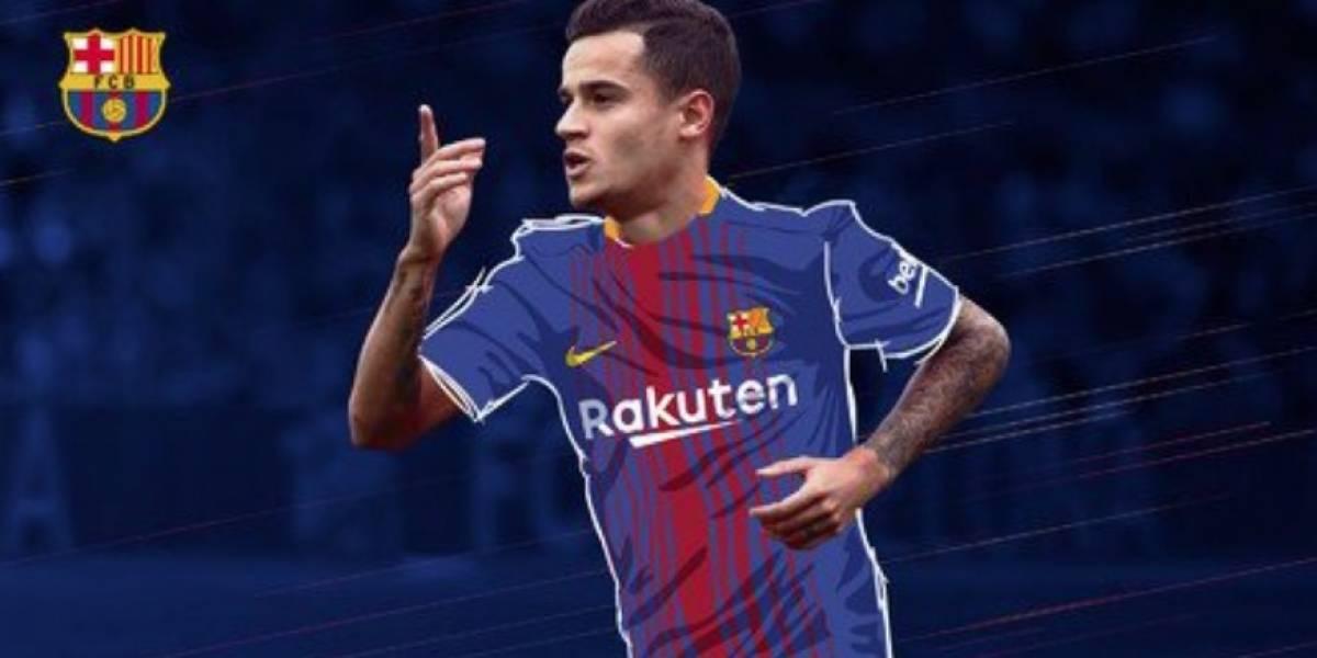 VIDEO. ¡Coutinho se pone el uniforme del Barça y envíaun mensaje a la afición!