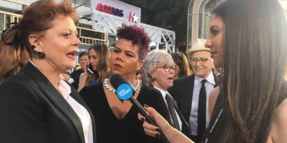 La actriz Susan Sarandon resalta la situación de Puerto Rico en los Golden Globes