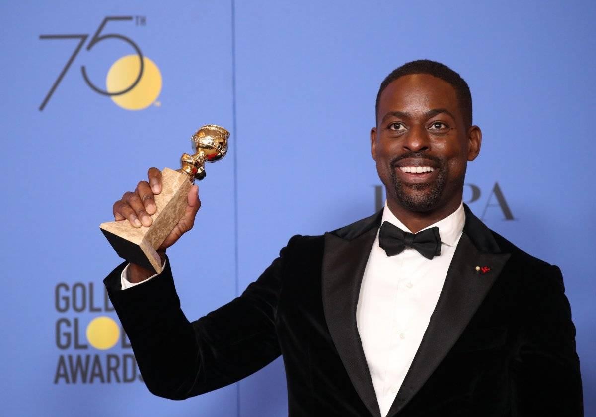 """Sterling K. Brown levou a estatueta de melhor ator em série de drama por """"This is Us"""" REUTERS/Lucy Nicholson"""