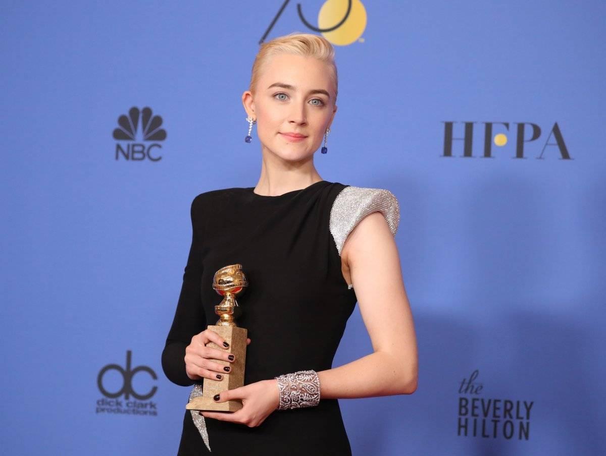 """Saoirse Ronan, de """"Lady Bird: É Hora de Voar"""", levou como melhor atriz em filme de comédia ou musical REUTERS/Lucy Nicholson"""