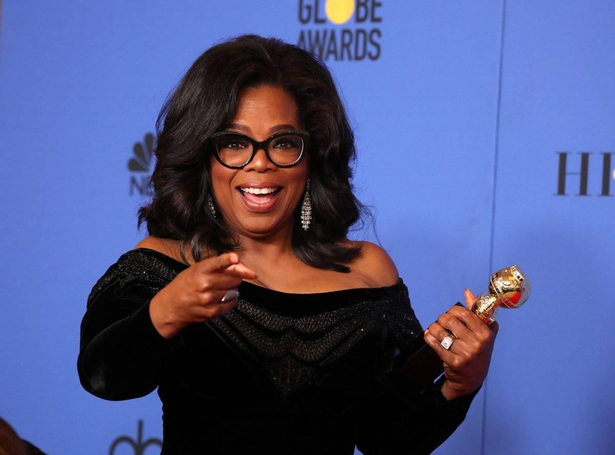 A apresentadora Oprah Winfrey foi homenageada com o Prêmio Cecil B. Demille REUTERS/Lucy Nicholson