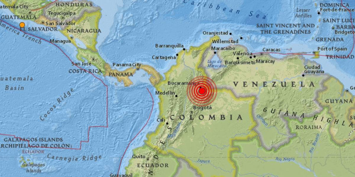 Sismo de 5.4 grados sacude el noreste de Colombia