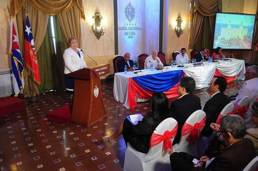 Bachelet en La Habana