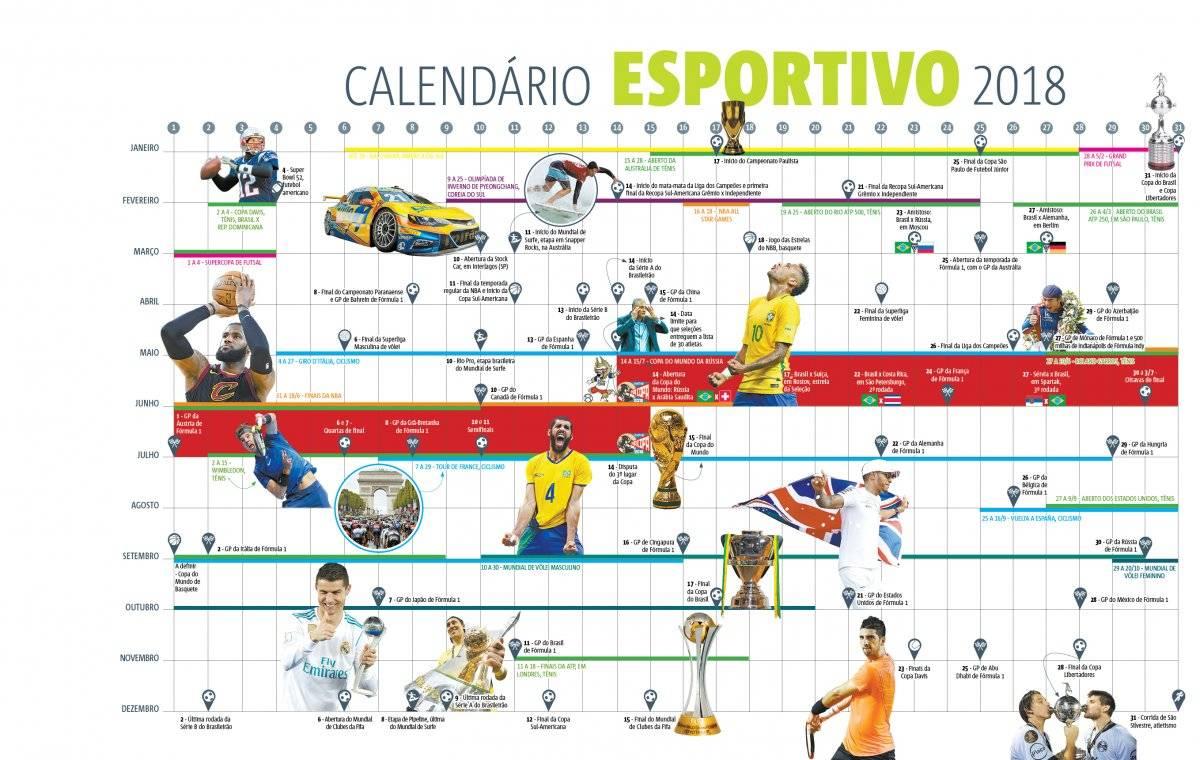 calendario esportivo