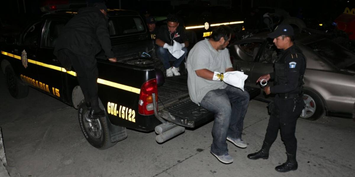 PNC captura a presuntos responsables de ataque armado en Villa Nueva