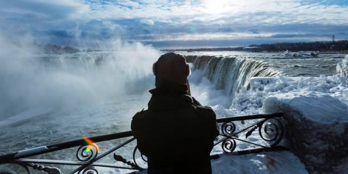 Canadá: Cataratas del Niágara congeladas