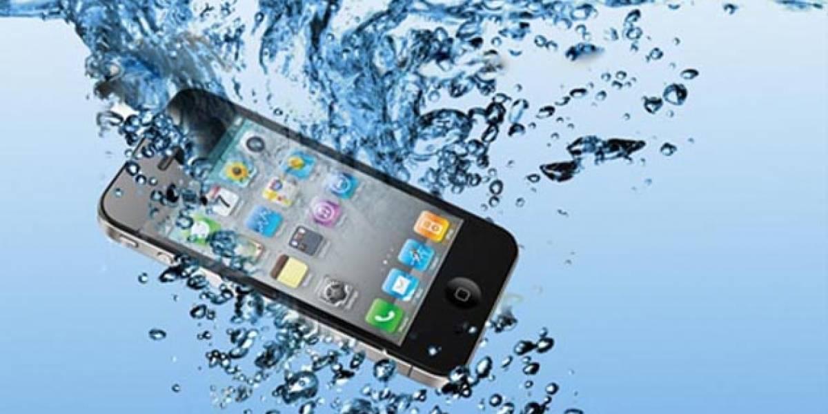 ¿Qué hacer si el teléfono se cae al agua?
