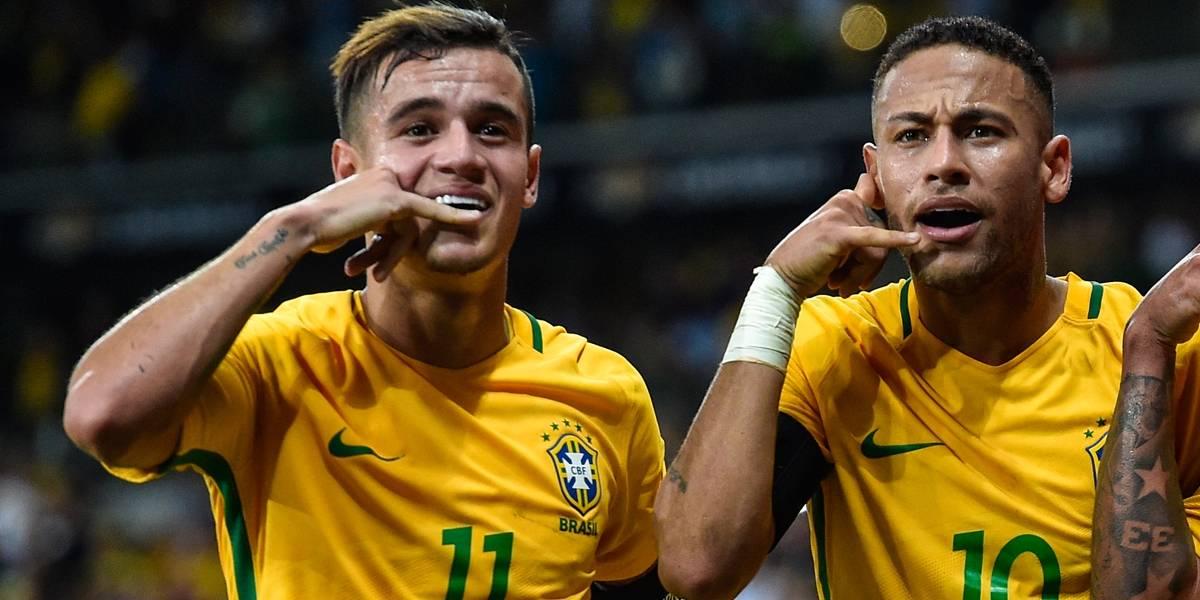 Titulares de Tite, Neymar e Coutinho formam dupla mais cara da história
