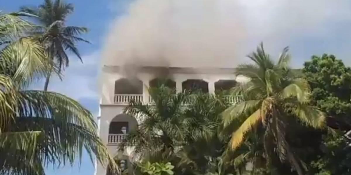 Video: Incendio en habitación de reconocido hotel de Cartagena