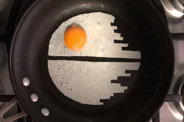 Estrella de la muerte huevos