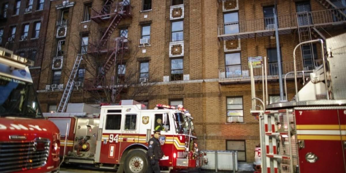 Cuatro niños entre los 12 muertos en el incendio de Nueva York