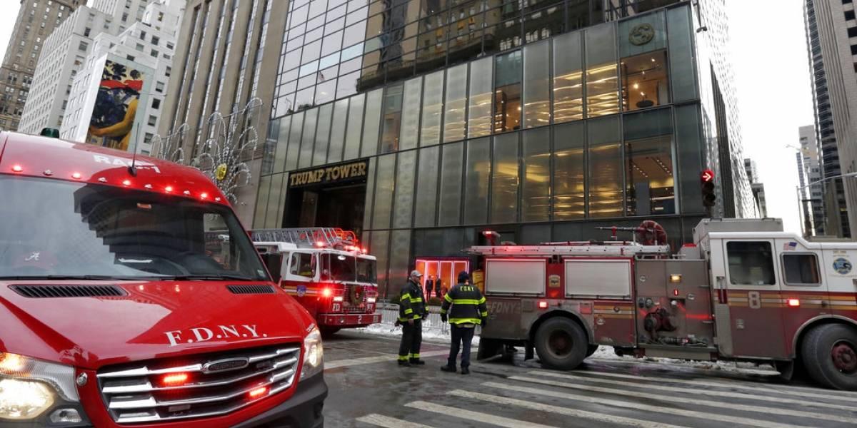 VIDEO. Incendio en el techo de la Trump Tower deja un herido