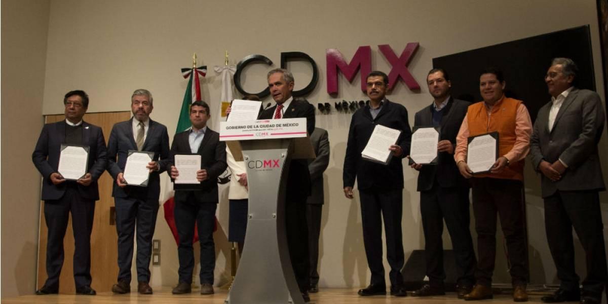 Sin Morena, firman pacto de civilidad en la CDMX