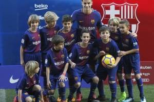 Philippe Coutinho en su presentación con el Barça