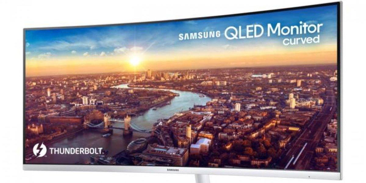 Samsung presenta el primer monitor curvo en el CES 2018