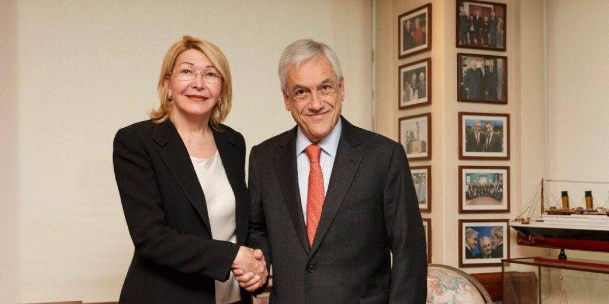 """Ex fiscal general de Venezuela pide ayuda a Sebastián Piñera para """"restablecer bienestar, libertad y democracia"""""""