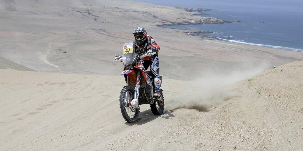 Abandonó el principal candidato a ganar el Dakar en motos