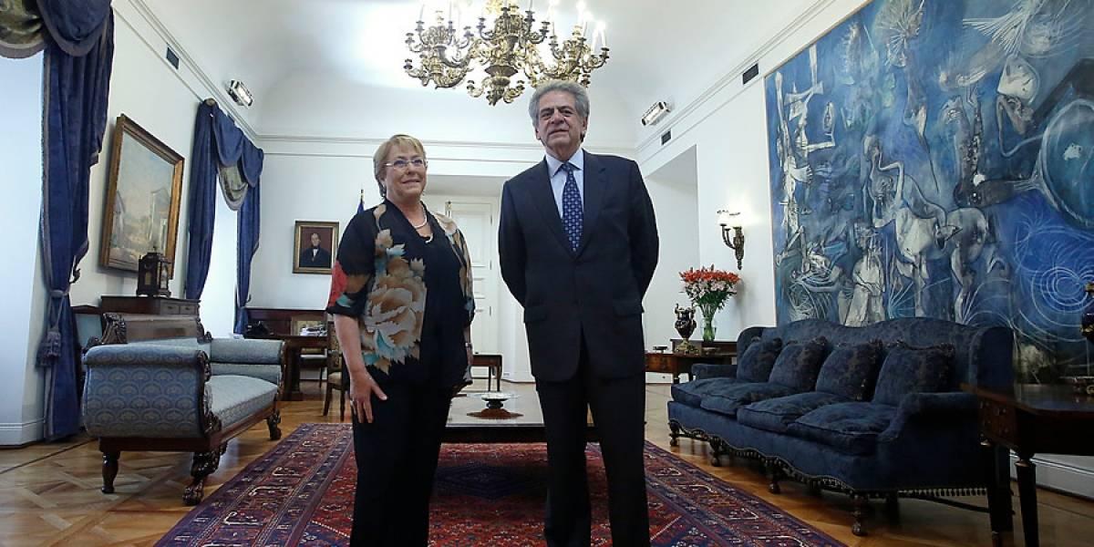Bachelet recibió a nuevo presidente de la Corte Suprema, Haroldo Brito