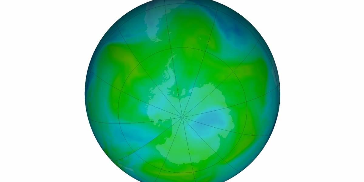 NASA anuncia reducción importante del agujero en la capa de ozono