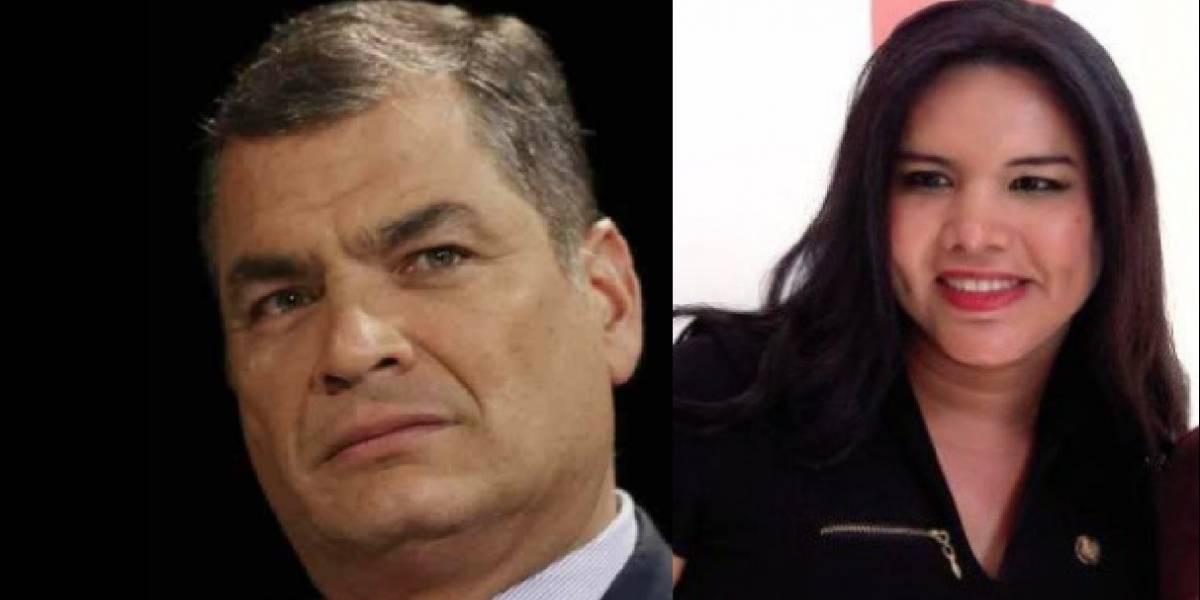 Rafael Correa aplaudió renuncia de Diane Rodríguez en el Ministerio de Salud