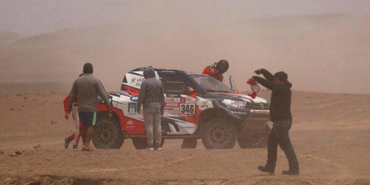 André Villas-Boas sufrió con las duras rutas y se retiró del Rally Dakar 2018