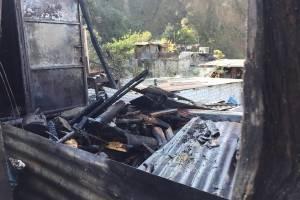 incendio en zona 6 de Chinautla