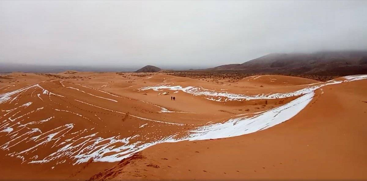 Neve no deserto do Saara 2018