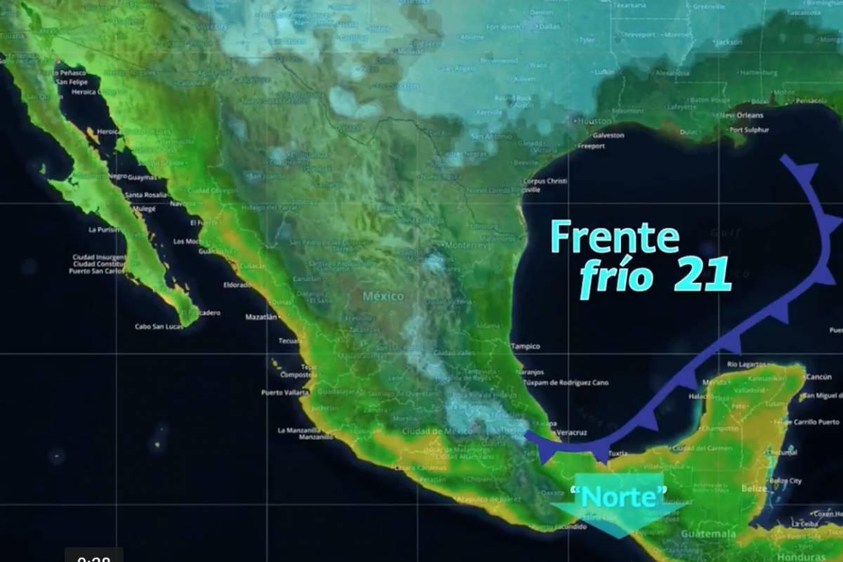 Norte, noreste y centro del país, lo más afectado por frío