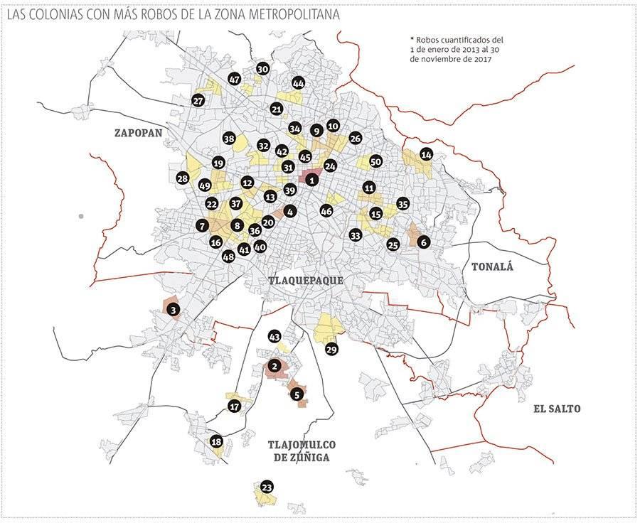 Concentran Guadalajara y Zapopan robos a viviendas