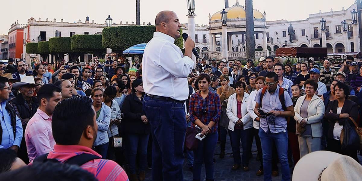 Enrique Alfaro fue amenazado por elementos de la Fiscalía del Estado