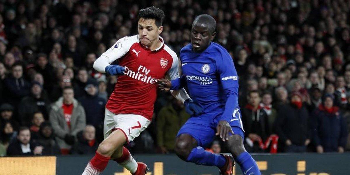 Alexis Sánchez sumó minutos en deslucido empate del Arsenal ante Chelsea