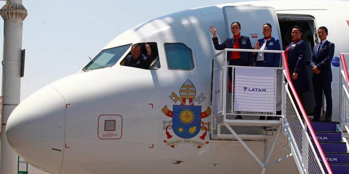 Así volará el Papa Francisco