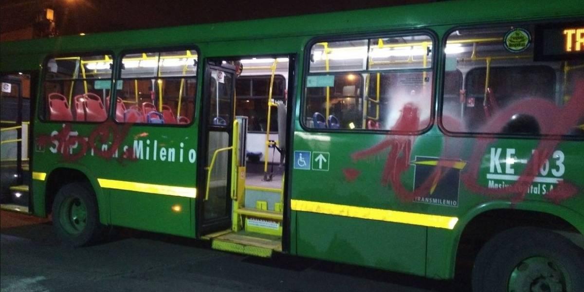 Preocupación por actos vandálicos al sistema de transporte de Bogotá