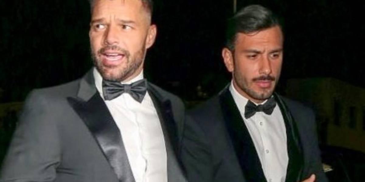 Ricky Martin acudió a los Globos de Oro con su novio — Instagram