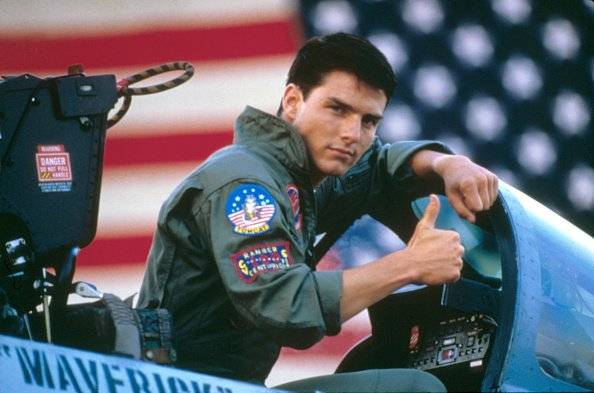 "Tom Cruise en ""Top Gun"", producida por Jerry Bruckheimer"