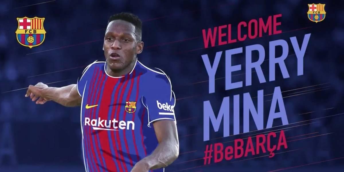 La millonaria cláusula de salida de Yerry Mina que impuso el Barcelona