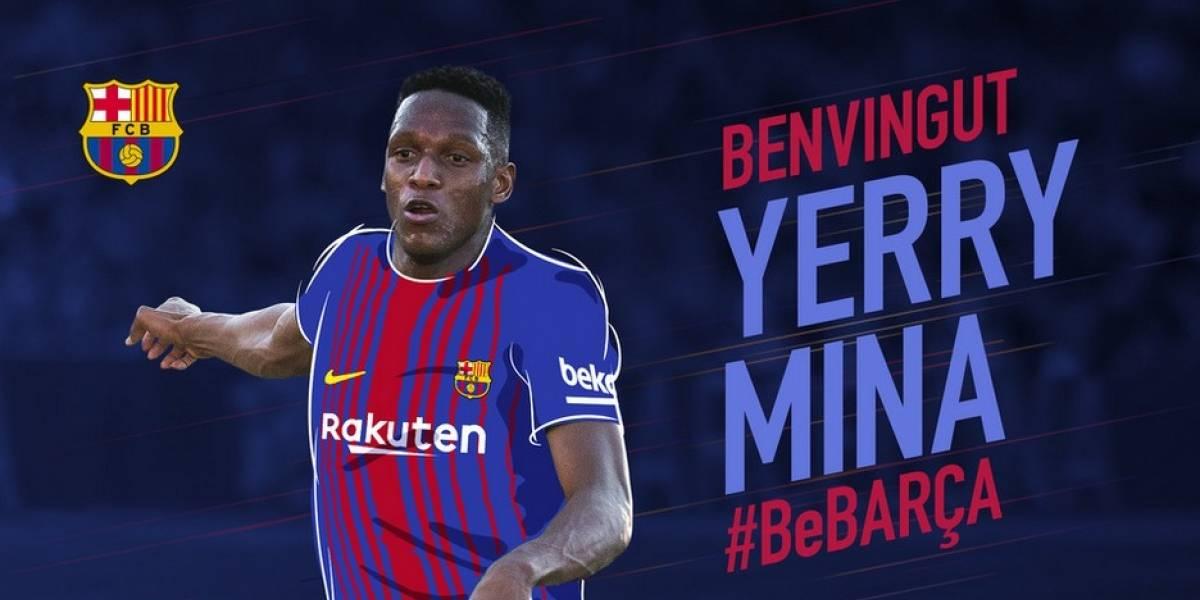 El colombiano Yerry Mina es oficializado como nuevo refuerzo del Barcelona