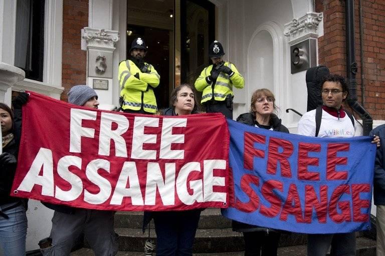 Protestan por la liberación de Assange